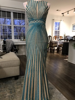 JVN By Jovani Blue Size 2 Straight Dress on Queenly