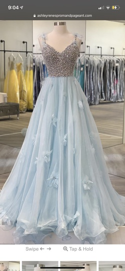 Sherri Hill Couture Blue Size 6 Ball gown on Queenly