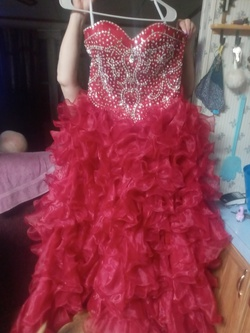 Jiovanni Red Size 6 Prom Ball gown on Queenly