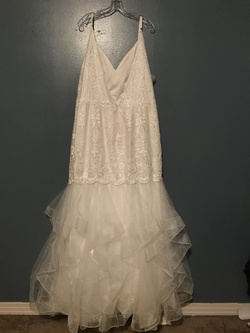 Lucci Lu White Size 22 Wedding Mermaid Dress on Queenly