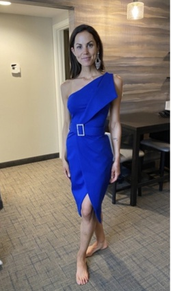 Lavish Alice Blue Size 2 Wedding Guest Cocktail Dress on Queenly