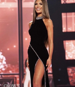 Sherri Hill Black Size 6 Pageant Side slit Dress on Queenly