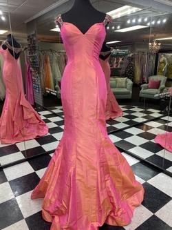 Sherri Hill Orange Size 6 Jewelled Mermaid Dress on Queenly