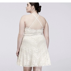 White Size 18 Cocktail Dress on Queenly