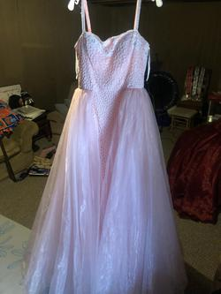 Sherri Hill Pink Size 12 Straight Tulle Ball gown on Queenly