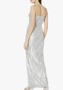 Silver Size 4 Side slit Dress on Queenly