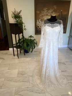 bhldn White Size 12 Plus Size Vintage Straight Dress on Queenly