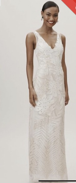 BHLDN White Size 4 Straight Dress on Queenly