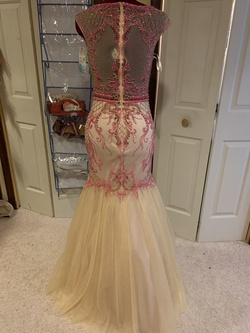 2 Cute Prom Multicolor Size 6 Pageant Hot Pink Mermaid Dress on Queenly