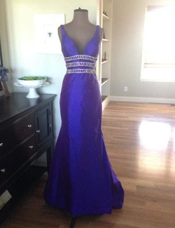 Sherri Hill Purple Size 4 Prom Royal Blue Straight Dress on Queenly