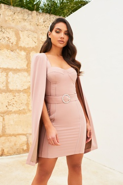 Lavish Alice Pink Size 4 Wedding Guest Mini Cocktail Dress on Queenly
