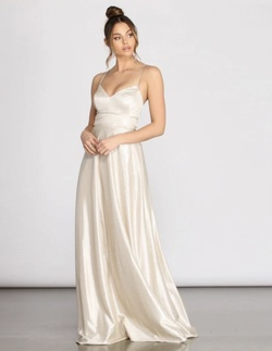 Nude Size 10 A-line Dress on Queenly