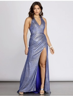 Blue Size 6 Side slit Dress on Queenly
