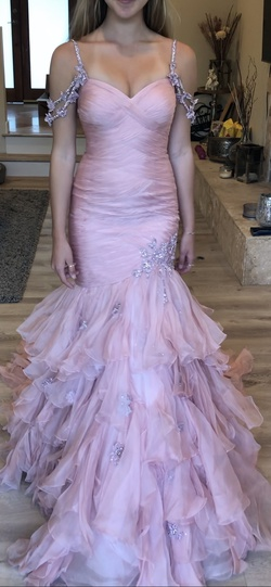 Sherri Hill Pink Size 6 Tall Height Mermaid Dress on Queenly
