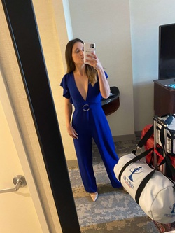 Blue Size 0 Jumpsuit Dress on Queenly