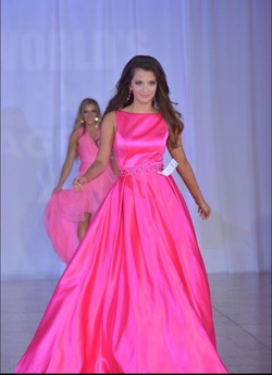 Sherri Hill Hot Pink Size 0 Light Green Ball gown on Queenly