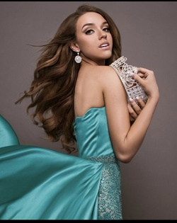 Sherri Hill Blue Size 2 Train Custom Ball gown on Queenly