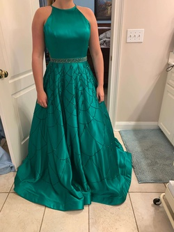 Sherri Hill Green Size 6 Prom Ball gown on Queenly