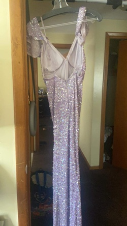 Scala Purple Size 4 Wedding Guest Straight Dress on Queenly