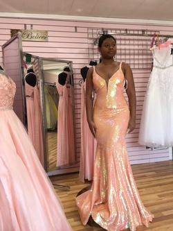 Jovani Orange Size 4 Prom Pageant Mermaid Dress on Queenly