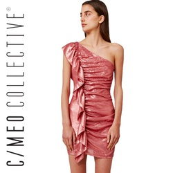 Style As It Goes C/MEO Collective Pink Size 0 Mini Straight Dress on Queenly