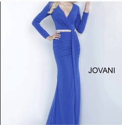 Jovani Blue Size 8 A-line Dress on Queenly