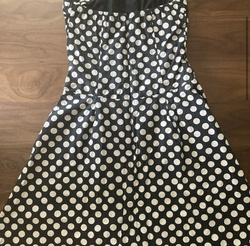 En Focus Studio Black Size 6 Vintage Strapless A-line Dress on Queenly