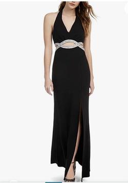 Black Size 2 Side slit Dress on Queenly