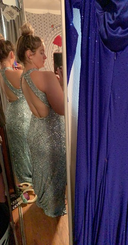 Mac Duggal Blue Size 10 Straight Dress on Queenly