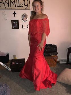 Alyce Paris Red Size 8 Mermaid Dress on Queenly