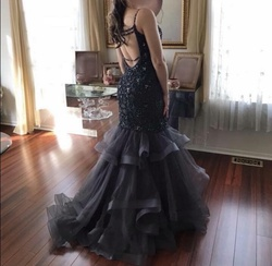 Jovani Silver Size 2 Short Height Mermaid Dress on Queenly