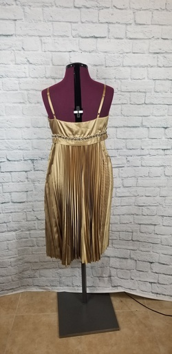 Ideology Gold Size 12 Spaghetti Strap Cocktail Dress on Queenly