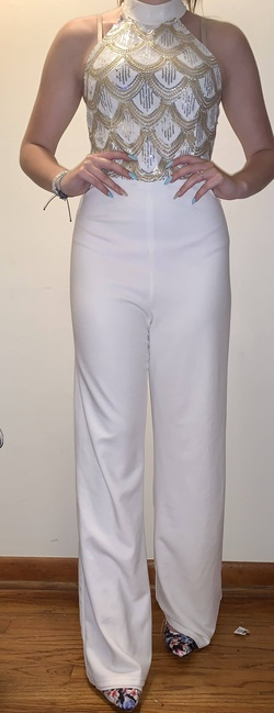 Charlotte Russe White Size 4 Jumpsuit Dress on Queenly