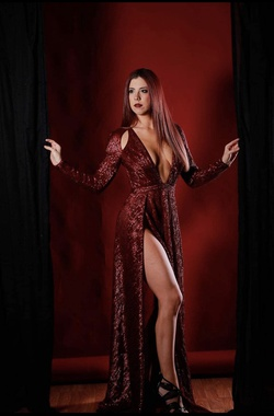 Abyss by abby Red Size 2 Side slit Dress on Queenly