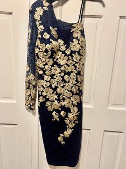 Xscape Multicolor Size 14 Plus Size Gold Cocktail Dress on Queenly