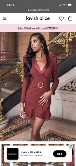 Lavish Alice Red Size 0 Cocktail Dress on Queenly