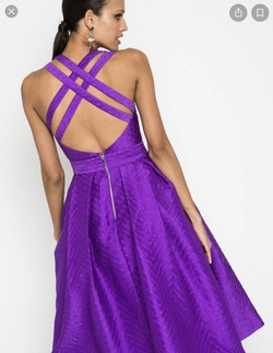 Mossman Purple Size 0 Cocktail Dress on Queenly