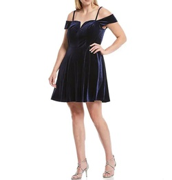 Blue Size 20 Cocktail Dress on Queenly