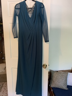 JC Collection Green Size 10 Sheer Straight Dress on Queenly