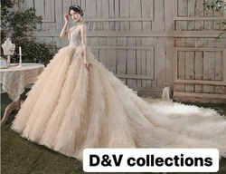 D&V Nude Size 12 Corset Train Custom Ball gown on Queenly