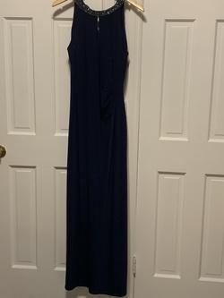 Ralph Lauren Blue Size 10 Halter Straight Dress on Queenly