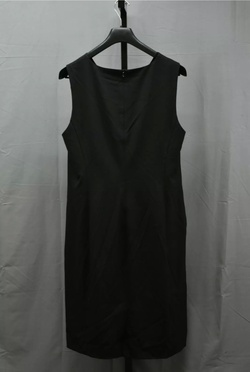 Moschino Black Size 14 Side Slit Straight Dress on Queenly