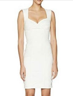 Nicole Miller White Size 6 Straight Dress on Queenly
