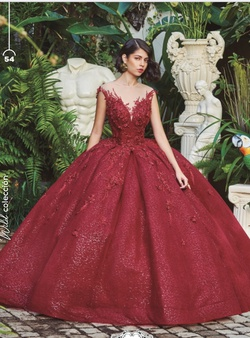 Ragazza Red Size 8 Quinceanera Ball gown on Queenly