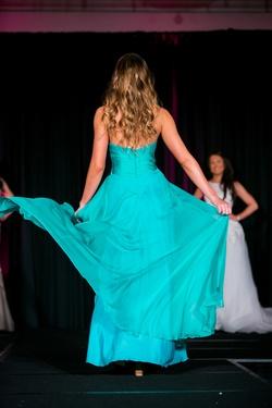 Cinderella Blue Size 4 Side slit Dress on Queenly