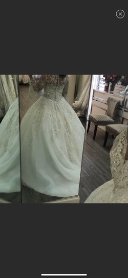 White Size 8 Train Dress on Queenly