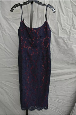 BCBGMaxAzria Blue Size 8 Jersey Straight Dress on Queenly