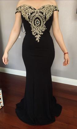 Black Size 6 Mermaid Dress on Queenly