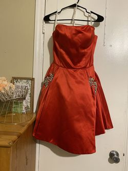 Sherri Hill Red Size 12 Sequin A-line Dress on Queenly