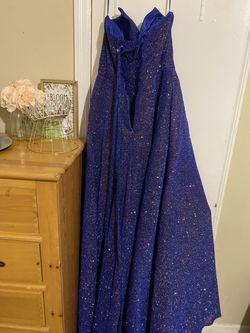 Cinderella Divine Blue Size 12 Corset Ball gown on Queenly